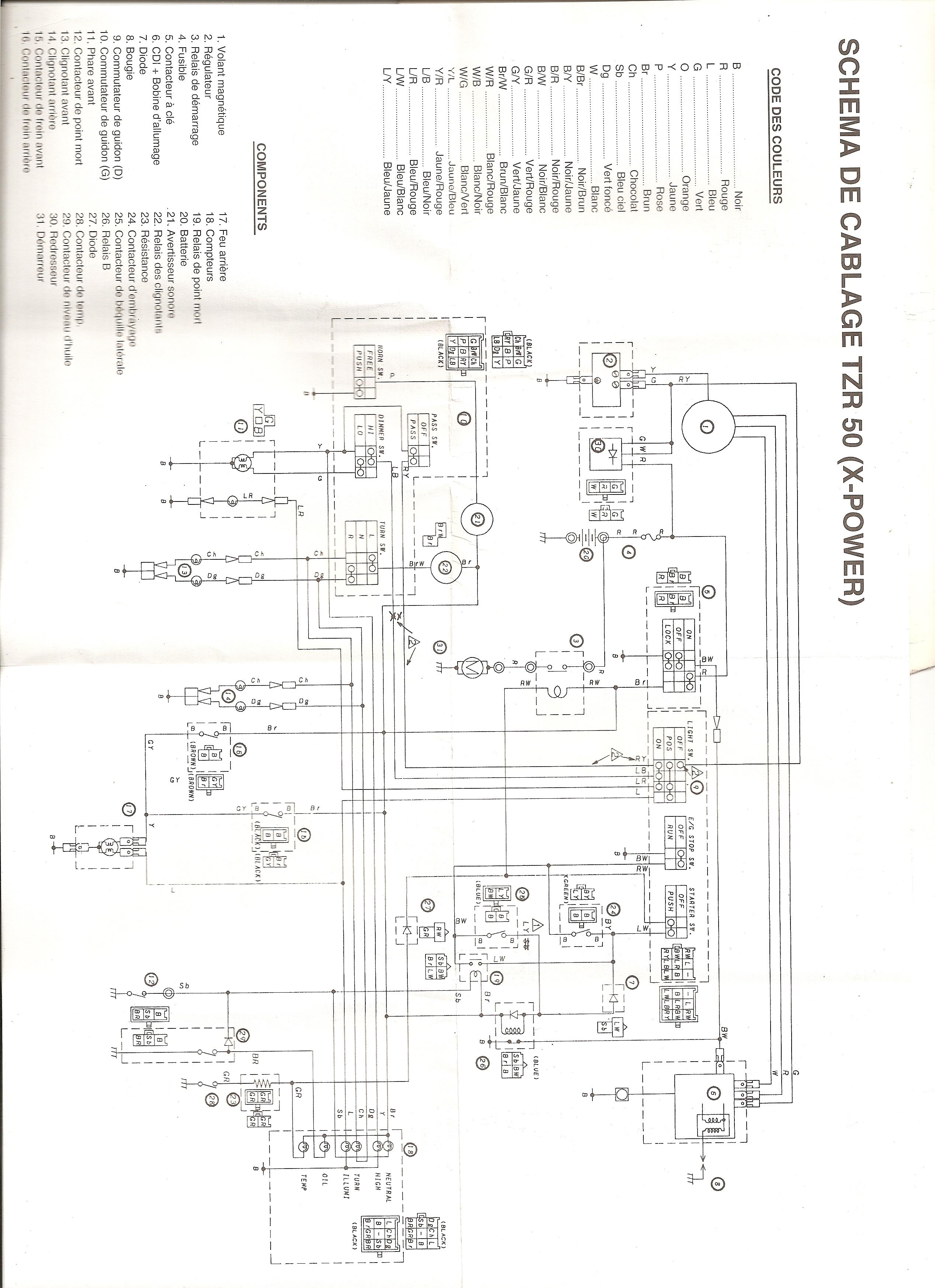 Schemi Elettrici Hi Fi : Schema impianto elettrico tzr 50 2007 elettronica moto 50 cc